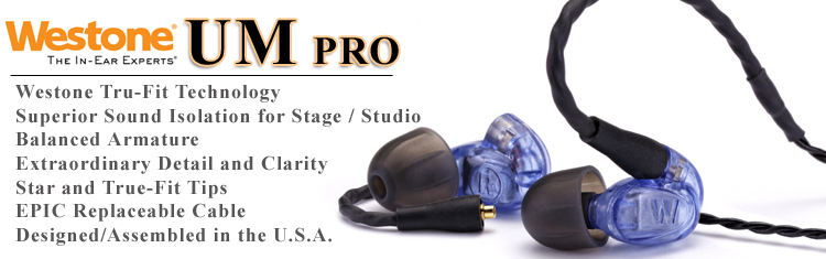Westone UM Pro In Ear Monitors