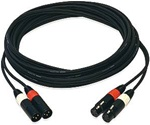 Whirlwind MK4PP-01 : 1ft Siamese Stereo Cable - XLRM-XLRF