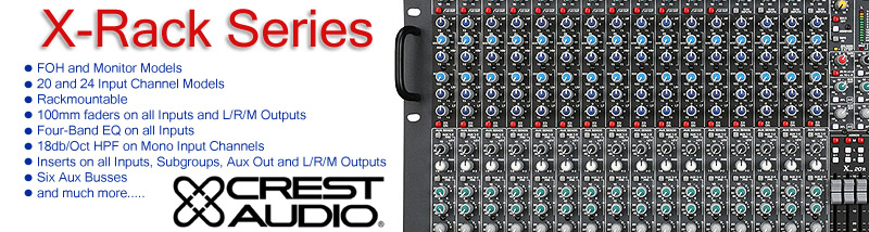 Crest Audio X-Rack Series Mixers