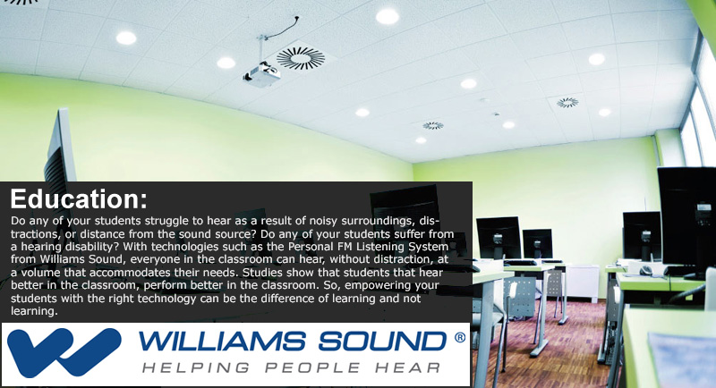Williams Sound Application - Education