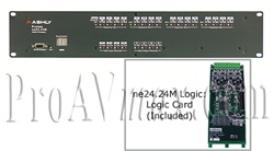 Ashly Audio ne24.24M 12x4 Logic : 12 Input x 4 Output Network Enabled Protea Matrix Processor with Logic Card
