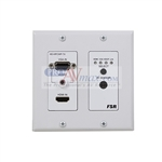 FSR HD-HPCWP-TX : 100m HDBaseT HDMI and VGA 2x1 Switcher / Transmitter Wall Plate