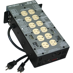 Lightronics AS62DC 6 Channel 1200W per Channel Portable Dimmer