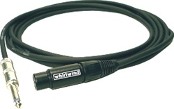 "Whirlwind MK3-03 :  3ft Unbalanced Cable - XLRF-1/4"" TS (mono)"